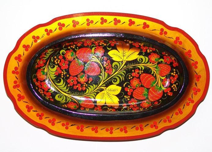 Хохломская роспись на посуде картинки
