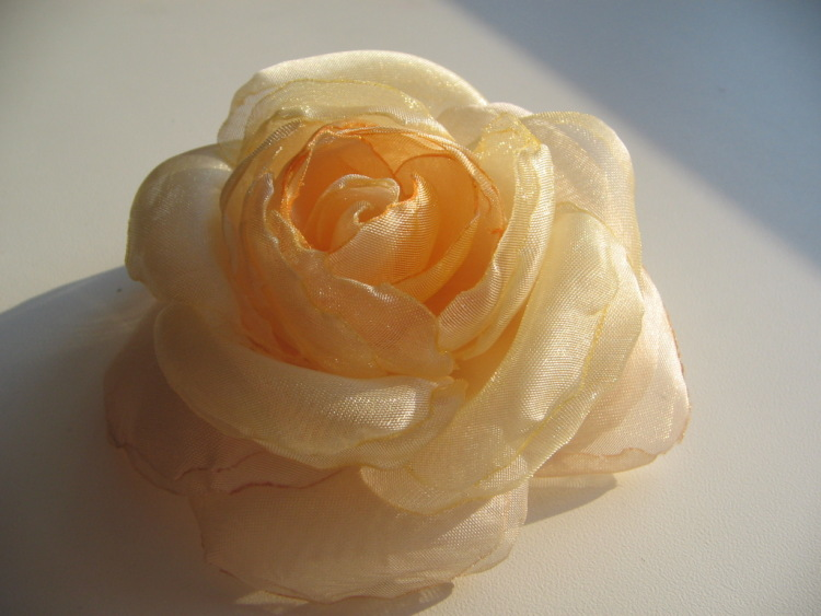 Своими руками цветок из вуали 5
