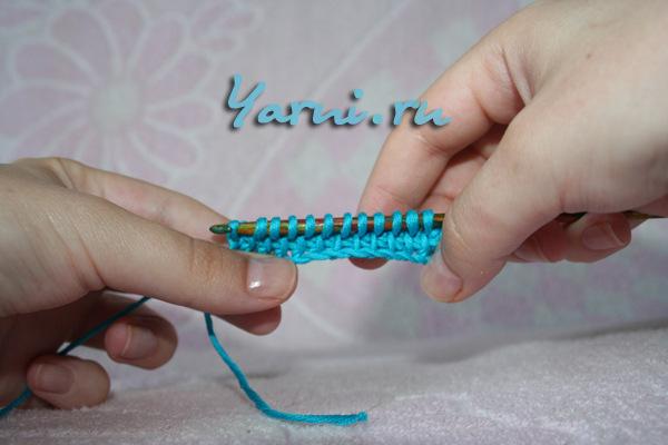 Тунисское вязание простая плетенка 87