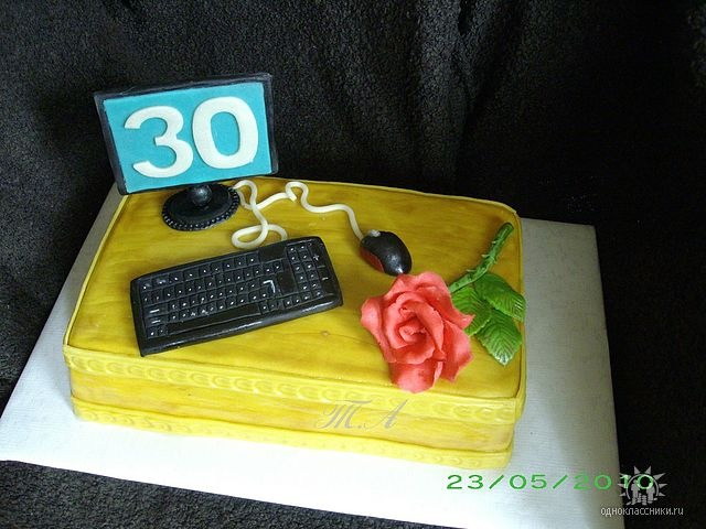 Картинки торты компьютеры и рецепт