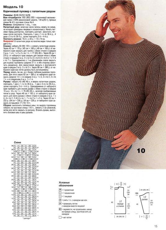 Связать простой свитер без узоров