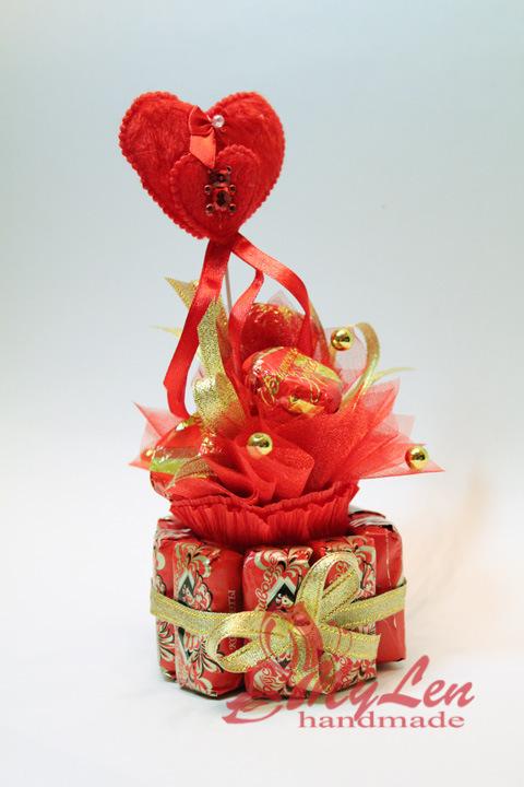 Валентинки из конфет своими рукам