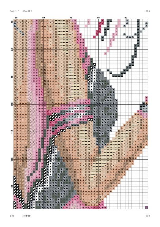 Вышивка крестом схема арлекин и дама
