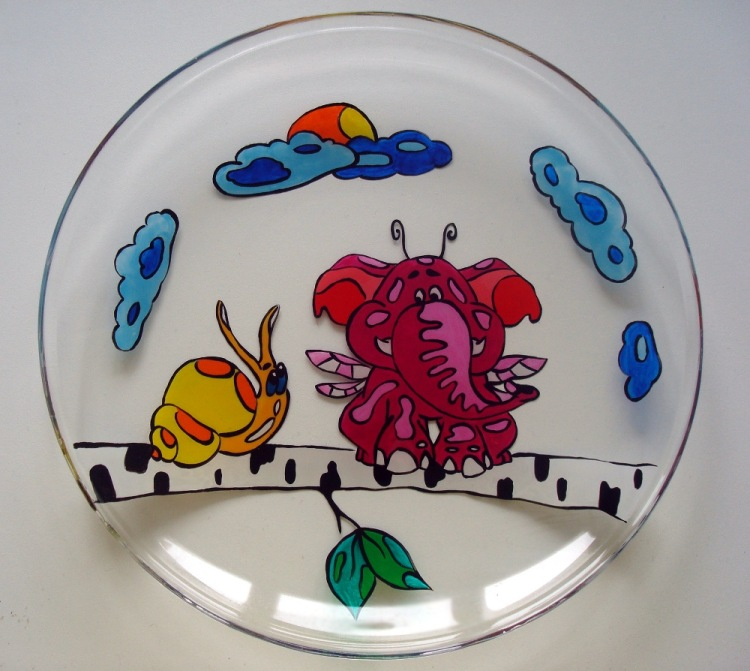 Тарелка своими руками детей
