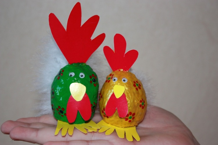 Поделки курица из яйца