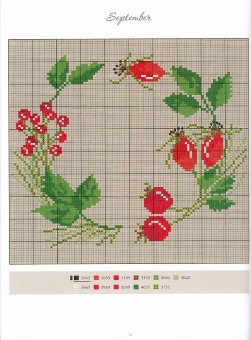 вышить цветок крестиком из немецких журналов ароматы заключаются флаконы