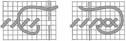 технология вышивки крестом в картинках