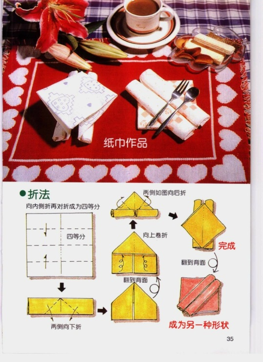 Как красиво сделать салфетки бумажные в салфетницу фото