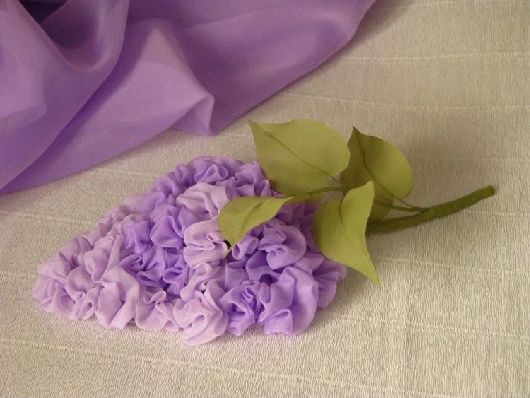 Цветы из ткани своими руками для штор  685