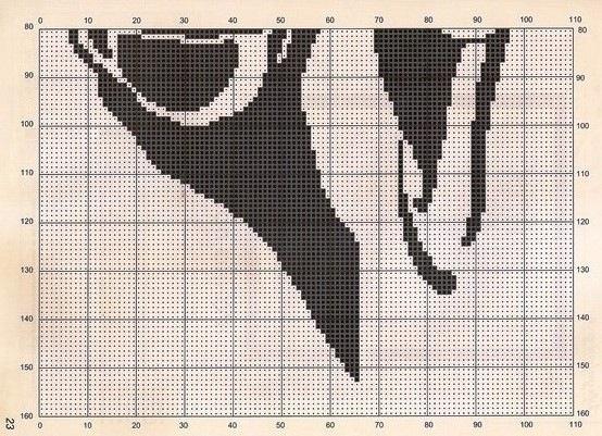 Вышивка крестом кофе схема 76