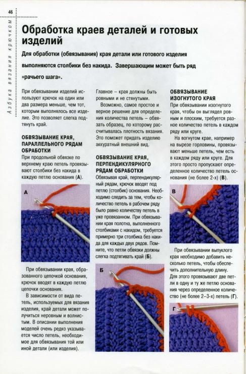 Вязание крючком обработка края изделия