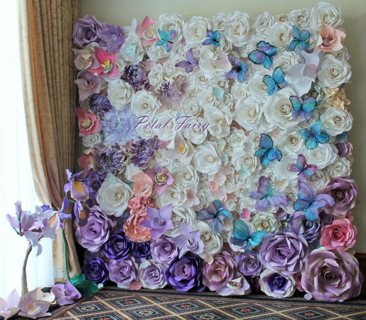 Фотозона из бумажных цветов своими руками мастер класс