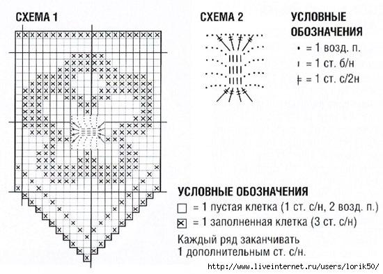 Схема каймы крючком филейное вязание с описанием