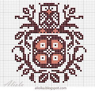 Вышивка крестом совы монохром 79