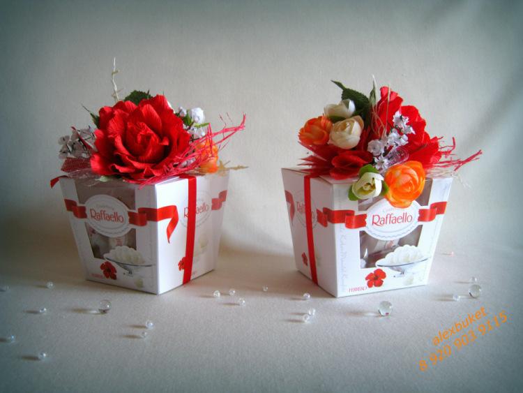 Подарки из конфет рафаэлло