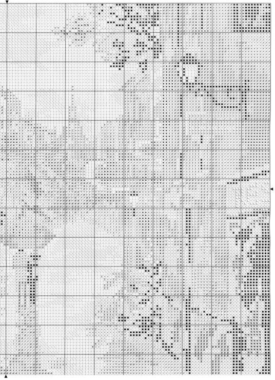 Схема для вышивки вечерние огни 198