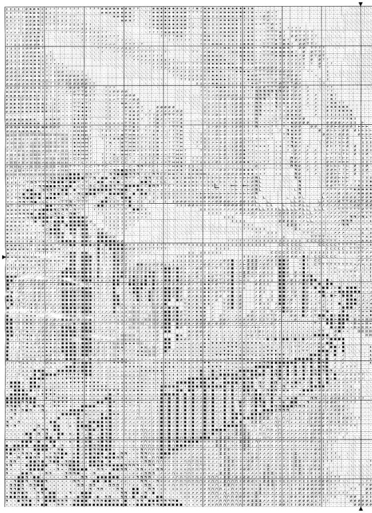 Схема для вышивки вечерние огни 194
