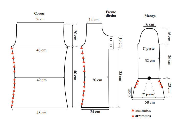 Схема кофты из буклированной пряжи
