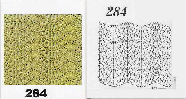 Вязание крючком узоры волнами