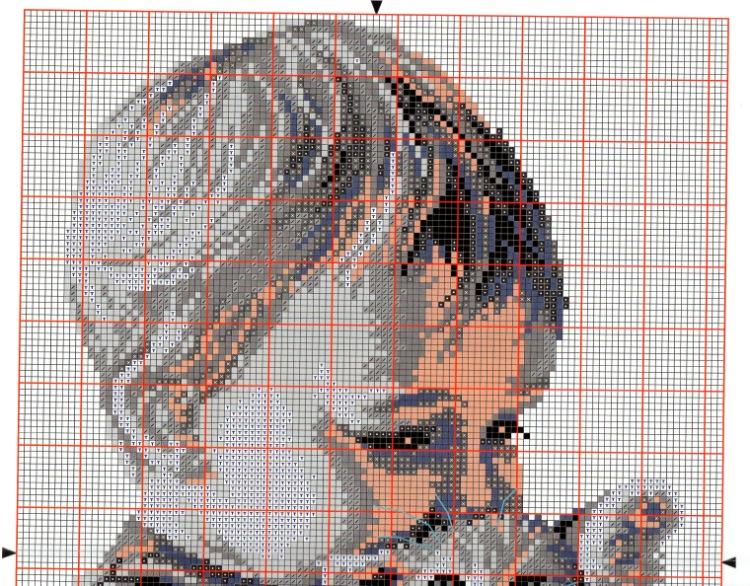 Малыш с котенком схема вышивки