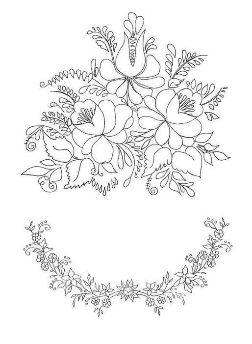 Узор для вышивки бисером на платье 46