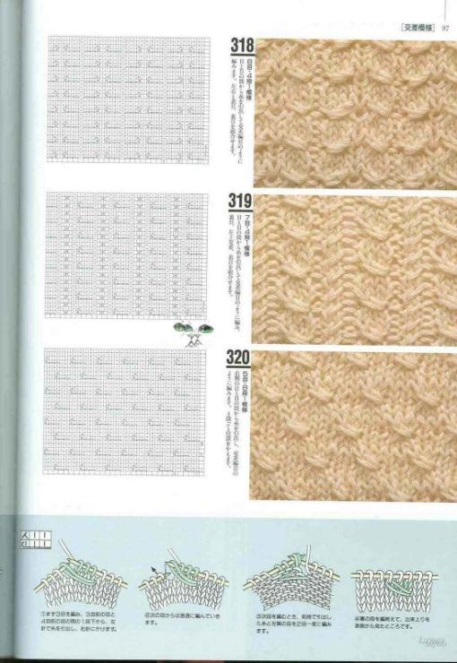 Двусторонние узоры вязания спицами 30